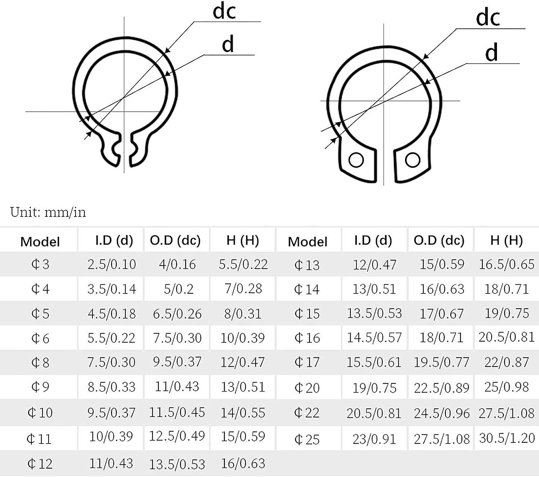 LAIYYI 2pcs Rond Porte-cl/és Clip Multi-Taille Ressort Rond Snap Sac /à Main Boucle De Remplacement Snap Clip Porte-cl/és Mousqueton DIY Accessoires pour Sac /à Main Sac /à Main