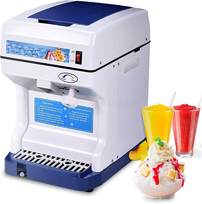 Azul BESTONZON Manual Ice Chipper Ice Crusher Grinder Shaver Ice Shaver Snow Cone Maker