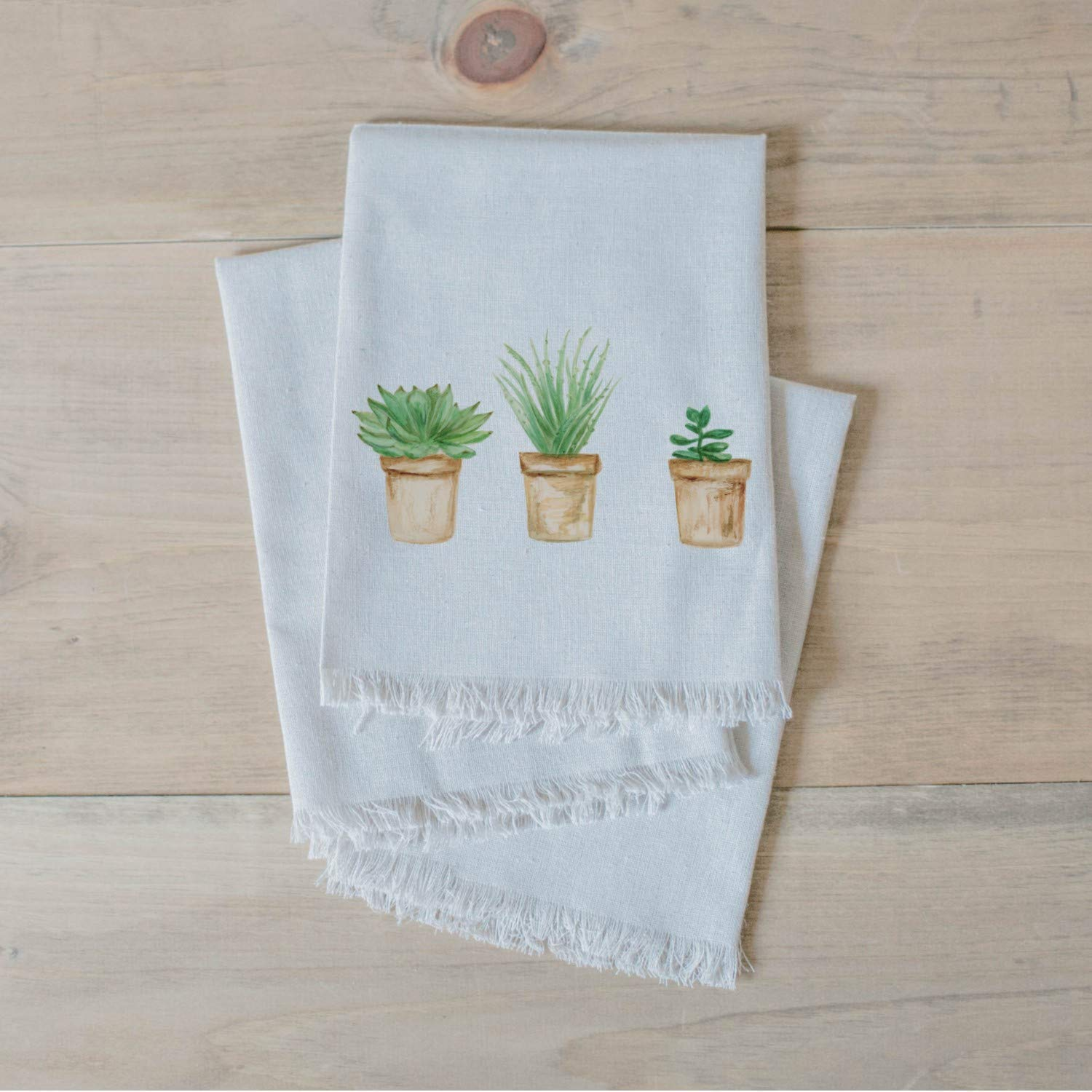 dinner party Succulent Pots Watercolor table setting place setting Napkin Set home decor tableware housewarming gift home decor Handmade in the USA