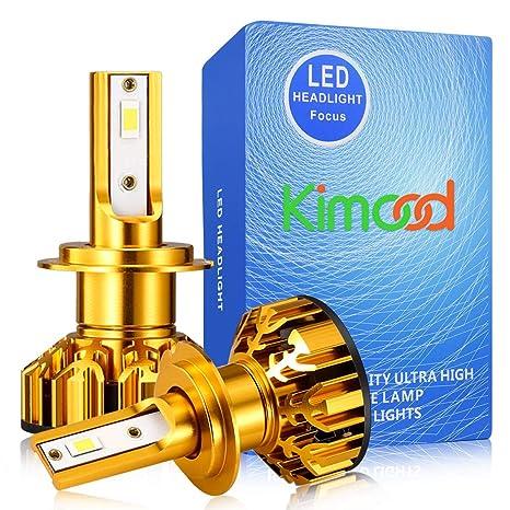 Bombilla H7 LED Coche Kimood LED H7 Coche, 10400LM y 72W / Set, 6000K