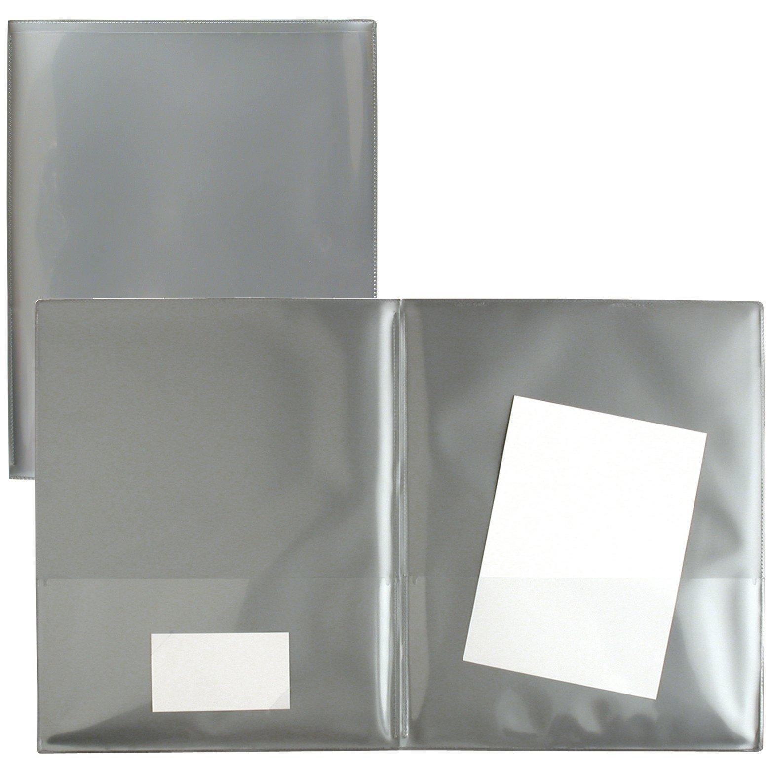 StoreSMART® Silver Plastic Archival Folders 50-pack - Letter-Size Twin Pocket - (R900S50)