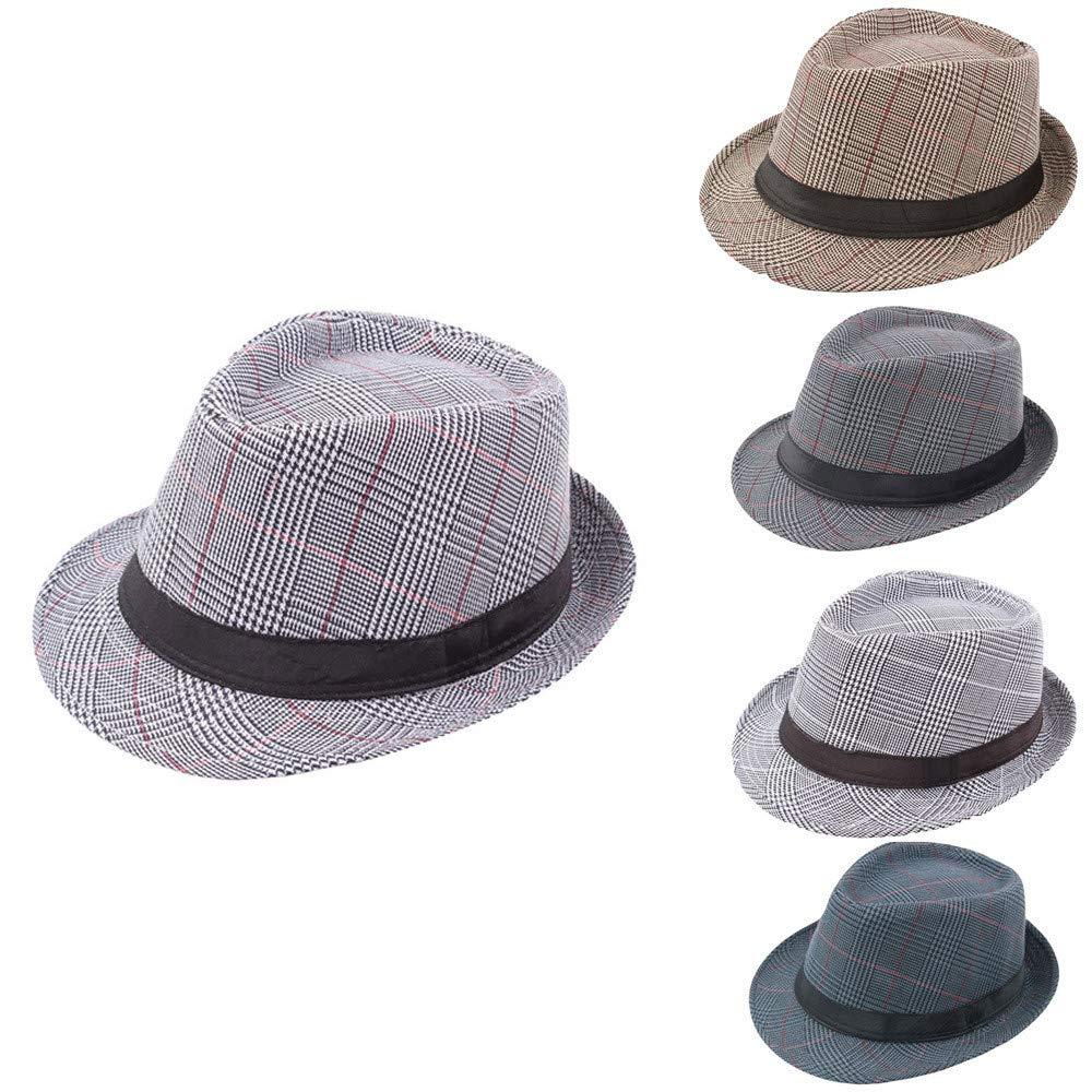 Respctful ♪☆ Hat Clearancesales,Unisex Print Fedora Hats Braid Straw Short Brim Jazz Cap by Respctful (Image #2)