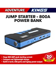 800Amp Lithium Jump Starter Power Bank 18,000mAh Suits Up to 6cyl Engines Adventure Kings