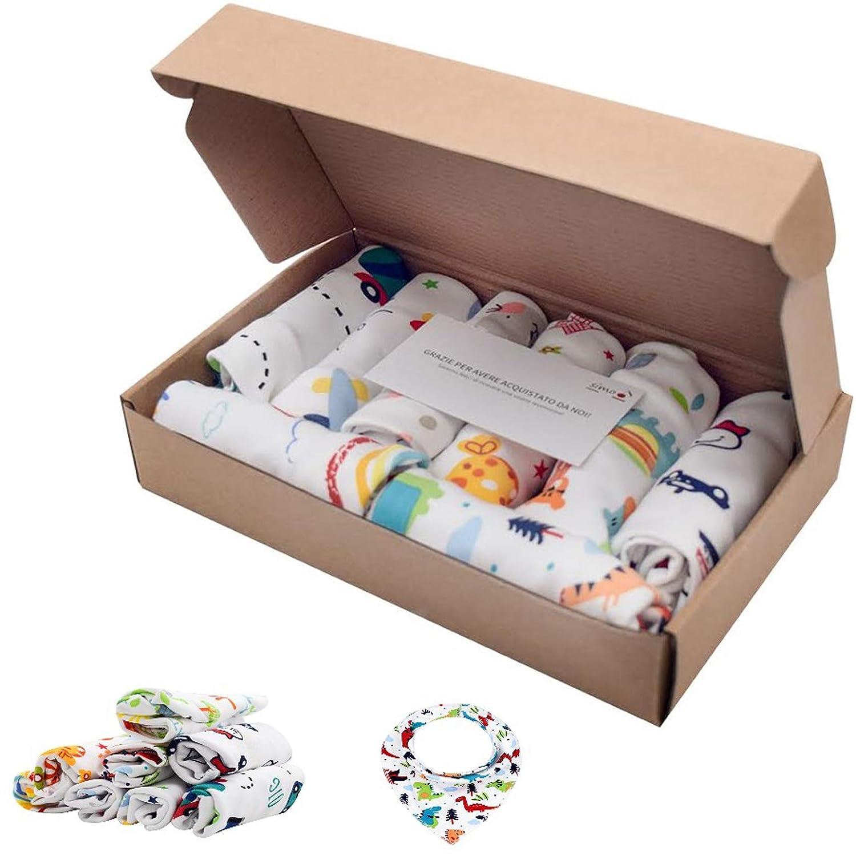 Baberos beb/é baberos bandana baberos 100/% algod/ón Pack de 8 baberos baberos absorbentes baberos regalo baberos impermeables