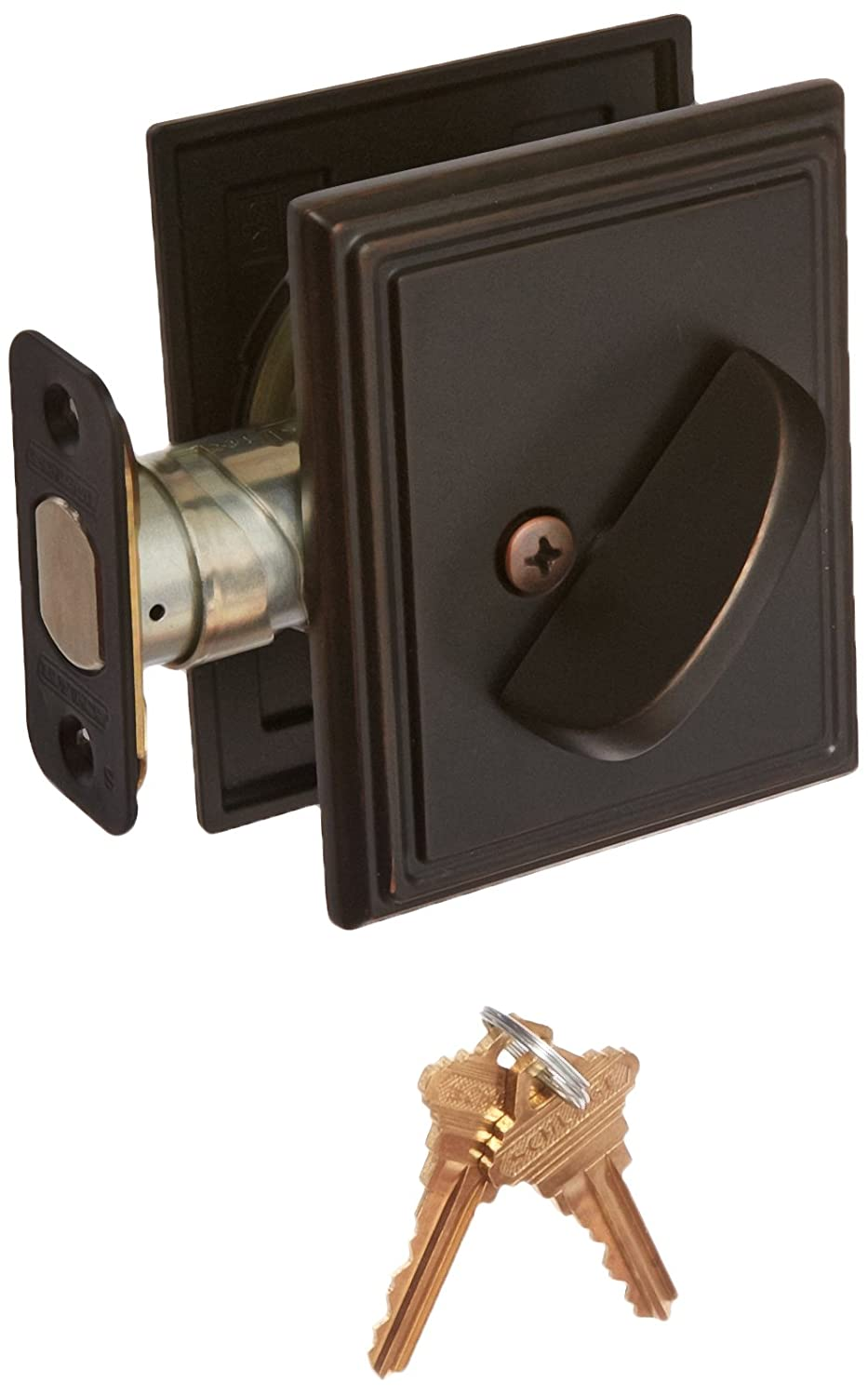 Schlage Lock Company B60ADD716 Single Cylinder Grade 1 Deadbolt with Decorative Addison Rose, Aged Bronze