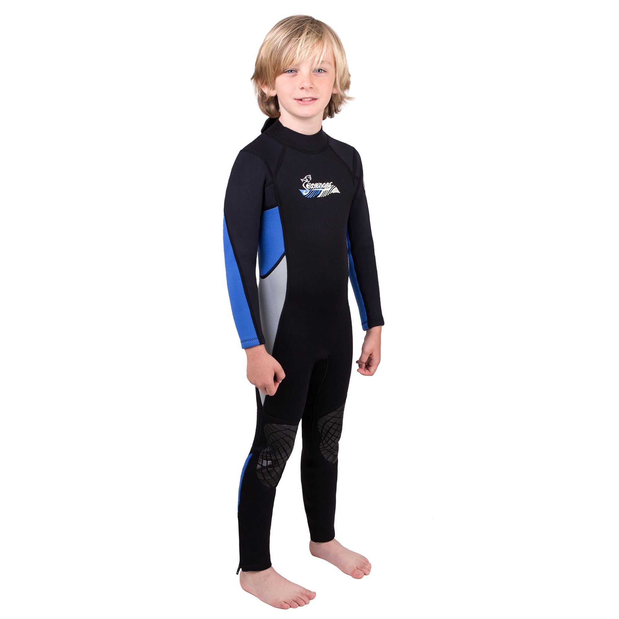 Seavenger Scout 3mm Kids Wetsuit | Full Body Neoprene Suit for Snorkeling, Swimming, Diving (Fire Red, 8) by Seavenger (Image #5)