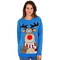 Blush Avenue®, maglione a tema natalizio unisex, lavorato a maglia