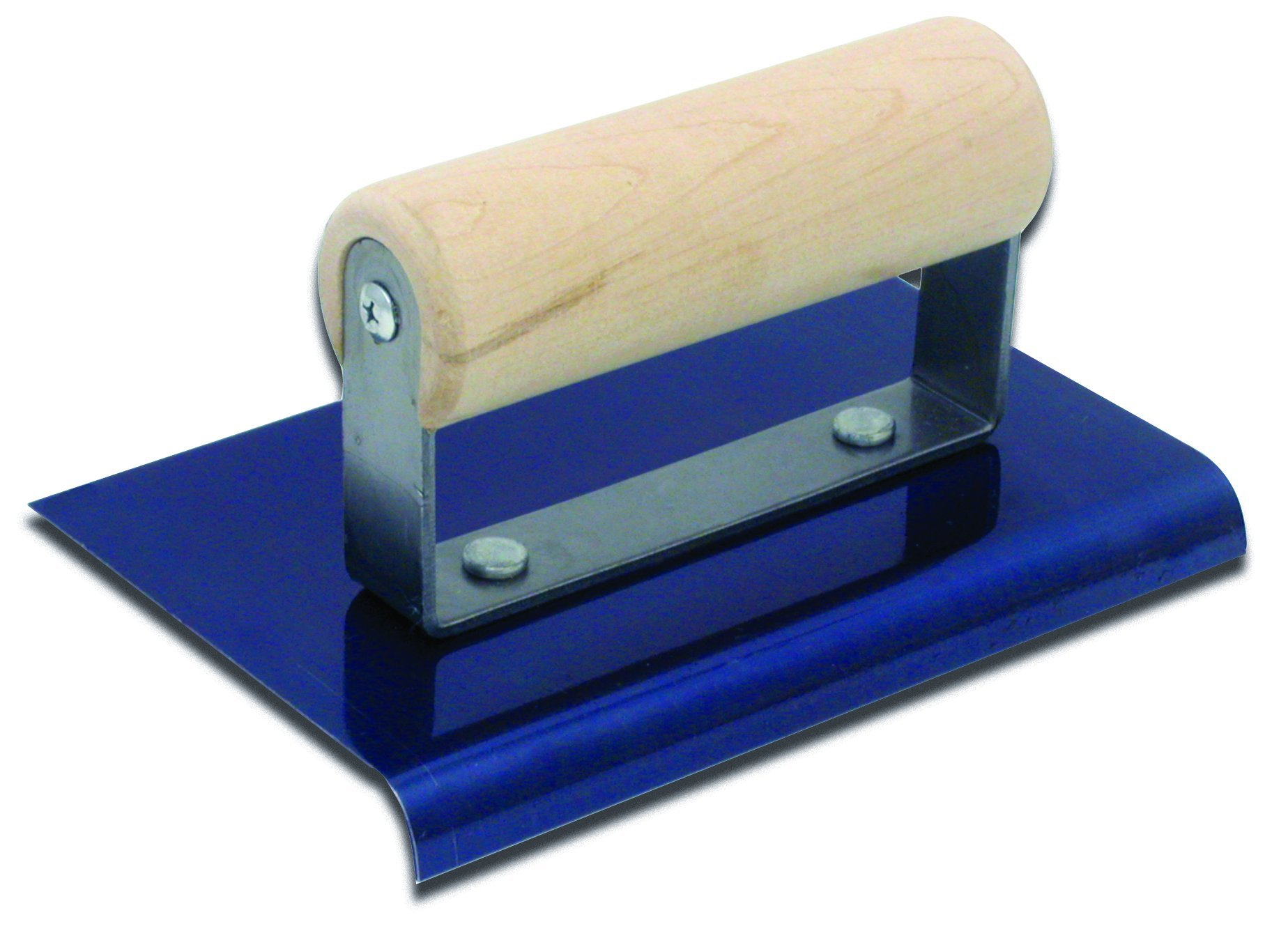QLT By MARSHALLTOWN CE543B 6-Inch by 6-Inch Blue Steel Edger with Wood Handle