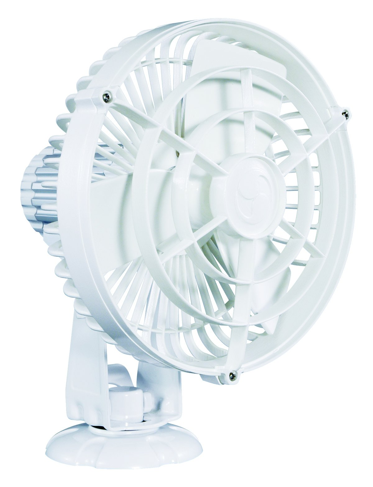Caframo Kona 12V Weatherproof Variable Speed Fan, White, Small