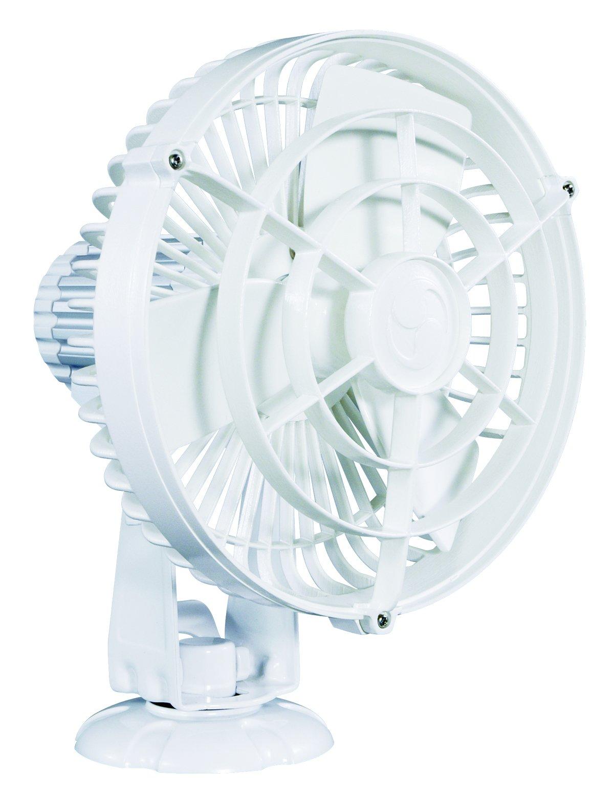 Caframo Kona 12V Weatherproof Variable Speed Fan, White, Small