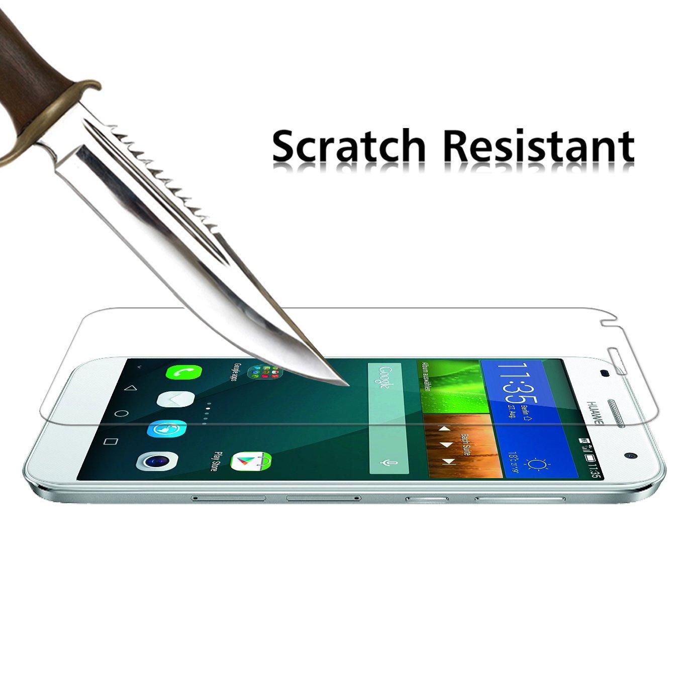 iVoler [2 Unidades] Protector de Pantalla para Huawei Ascend G7, Cristal Vidrio Templado Premium [9H Dureza] [Ultra Fina 0,3mm] [2.5D Round Edge]
