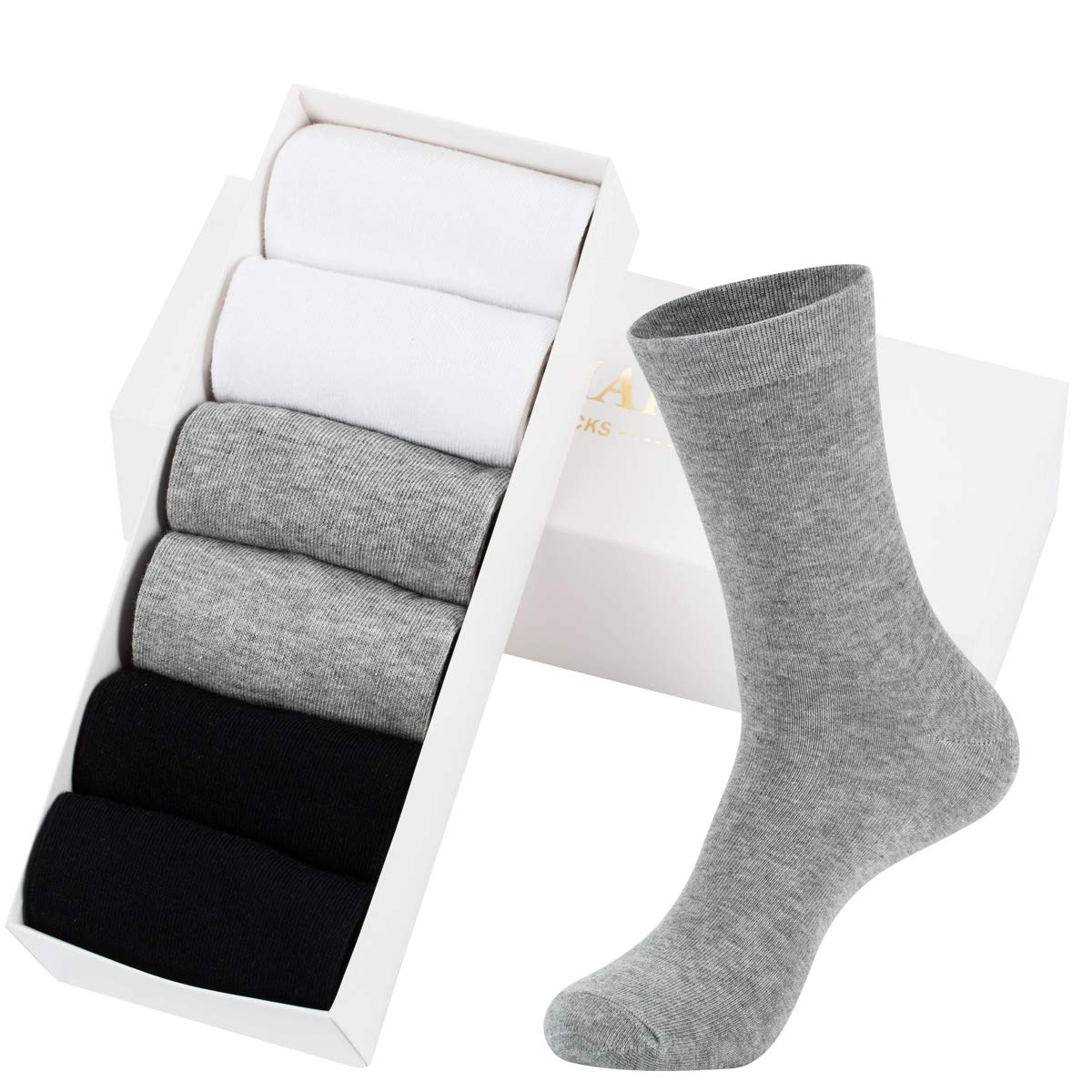 Mens Dress Socks High Ankle Men Casual Dress Socks Cotton 6 /& 12 Pairs by MAGIARTE