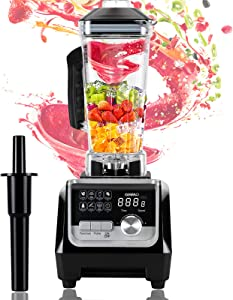 OMMO Blender 1800w, Professional Countertop Blender Smoothie Maker with Built-in Timer, High Power Blender 68oz Cups for Smoothies, Blend, Chop, Grind