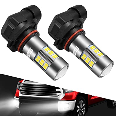 SEALIGHT 9145/9140/H10/9045/9040 LED Fog Light Bulbs, 6000K Xenon White, 27 SMD Chips, 360-degree Illumination, Non-polarity, 2-pack: Automotive