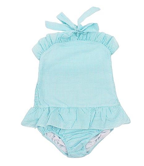 THOUSMOON 1pc Baby Girls Cute Straps Ruffle Seersucker Swimwear Bathing Suit Bikini Skirt Beachwear Outfit