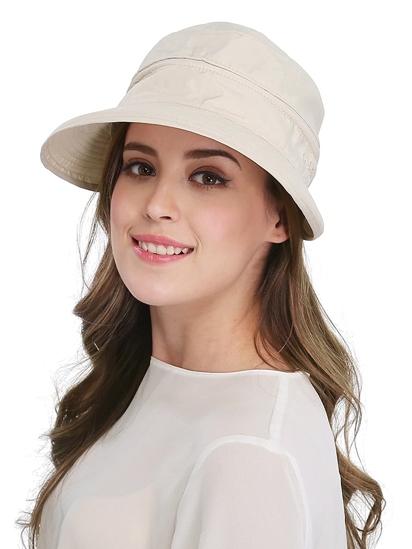 cf508ca44c5 Women s Big Wide Brim Sun Hat UV Protection Visor Sun Hat Lightweight Golf  Folding Hat