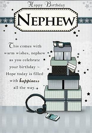Joyeux Anniversaire Neveu Carte Amazon Fr Fournitures De Bureau