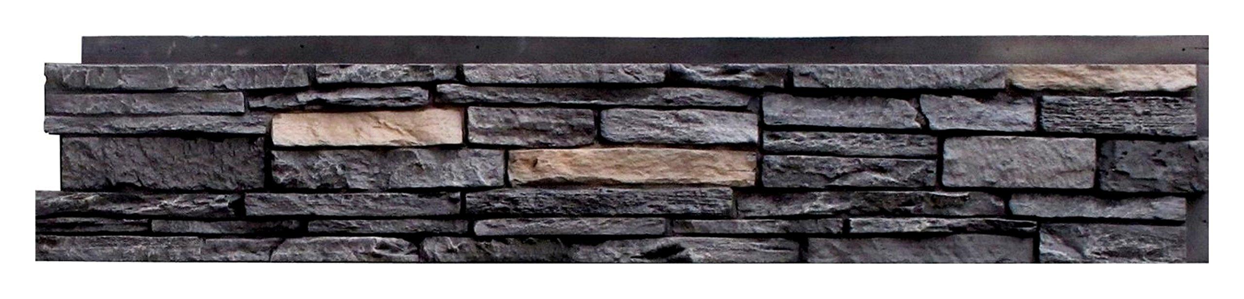 NextStone Slatestone Panel Onyx (8 Panels Per Box)(17.12 sq.ft Per Box)