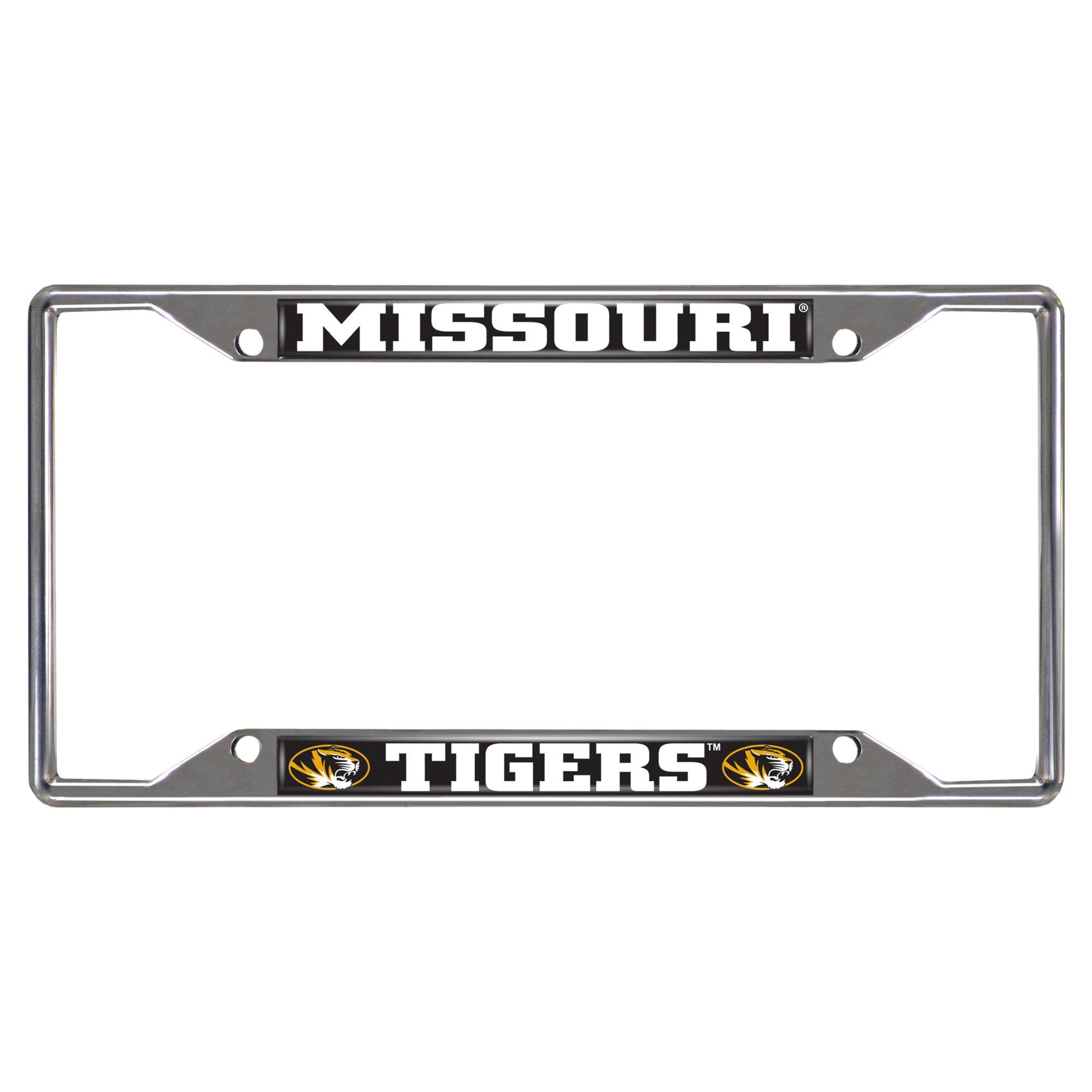 FANMATS NCAA University of Missouri Tigers Chrome License Plate Frame