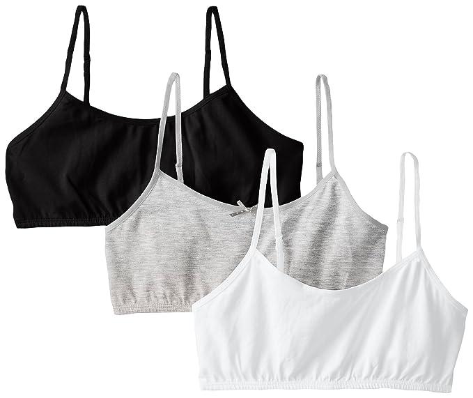 49499f5d15 Amazon.com  Maidenform Girl Big Girls  Crop Bra (Pack of 3)  Training Bras   Clothing