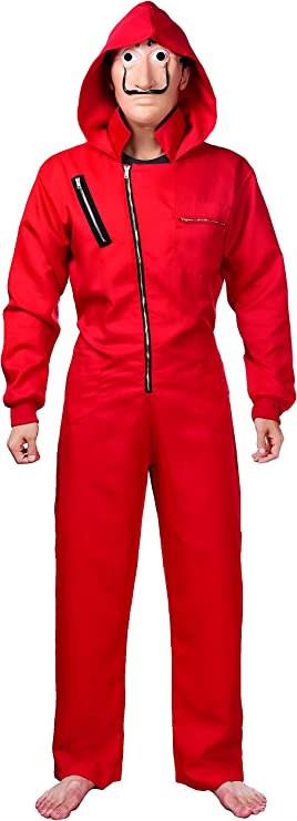 Matt Viggo Carnival Cosplay Costume jumpsuit and mask Halloween Cosplay, Small(155-160cm)
