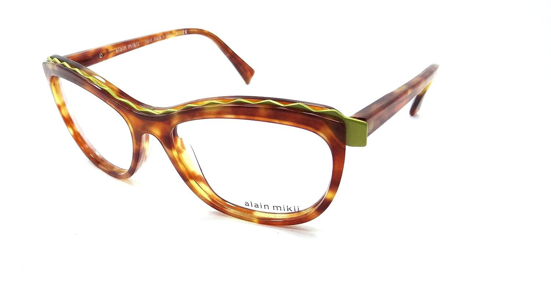88fadb102eb Amazon.com  Alain Mikli Rx Eyeglasses Frames A02019 1704 54x16 Havana    Lime Green Italy  Clothing