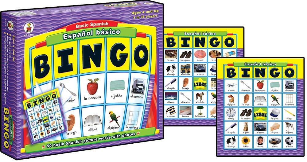 Carson-Dellosa Espanol Basico Basic Spanish: Bingo-Spanish Learning Toys for kids