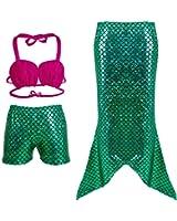 Frogwill Girls Mermaid Scale Leggings Fish Pants 3-11 Years