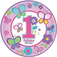 Amscan - Sweet 1st Birthday Girl - Palloncini in lattice - Pacco da 6
