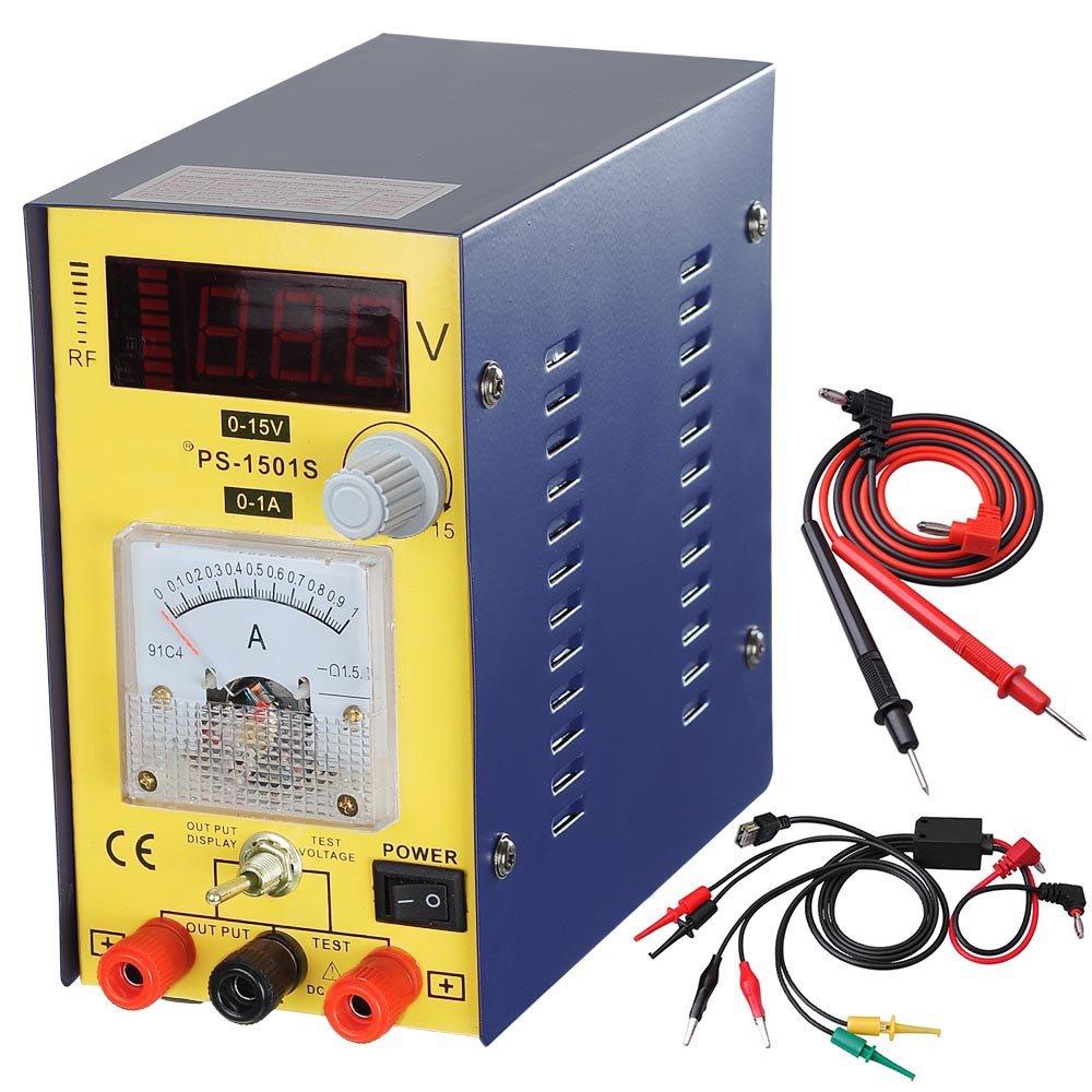 15v 1a Precision Variable Dc Power Supply Clip Cable Digital Adjustable Lab Grad