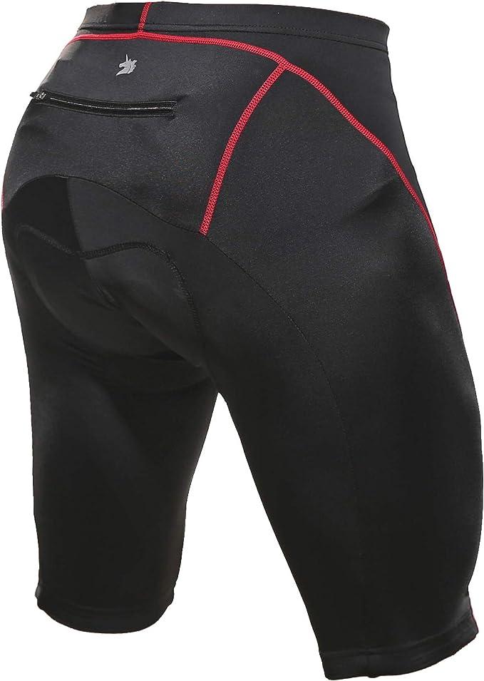 Souteam 9D - Pantalones cortos de ciclismo acolchados para hombre ...