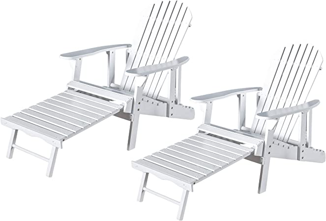Heavy Duty Sun Lounger, Amazon Com Christopher Knight Home Tampa White Reclining Wood Adirondack Chair With Footrest Set Of Two 2 Garden Outdoor