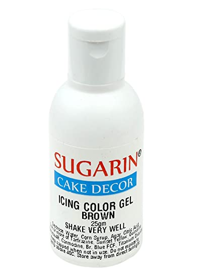 Sugarin Icing Color Gel for Fondant, Brown, 25 gram: Amazon ...