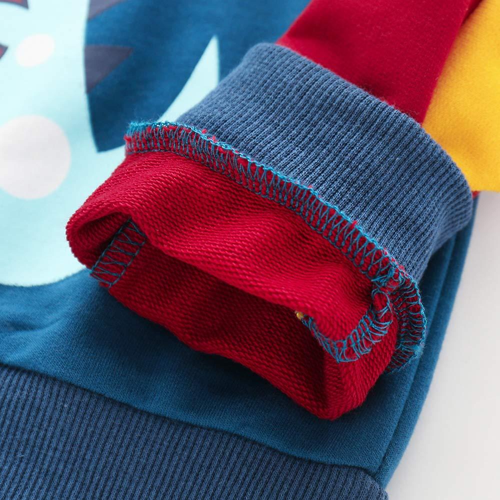 Qinni-shop Toddler Boys Kids Dinosaur Print Hoodie Fashion Hooded Sweatshirt Pullover