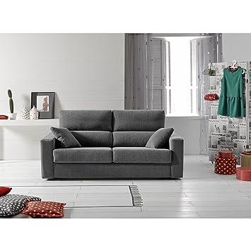 Sofá cama de tres plazas con apertura italiana. Tapizado en ...