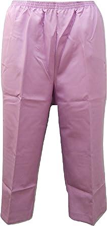 Amazon Com Sara Morgan Capris Pata Recta Para Mujer Talla 18 Color Morado Clothing