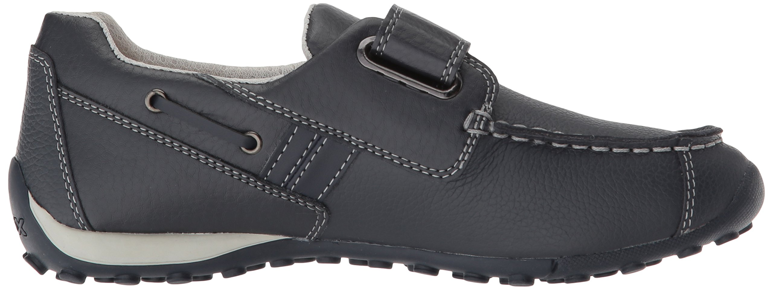 Geox Boys' JR SNAKEMOCBOY 19 Loafer Navy/Grey 27 BR/10 M US Little Kid by Geox (Image #7)