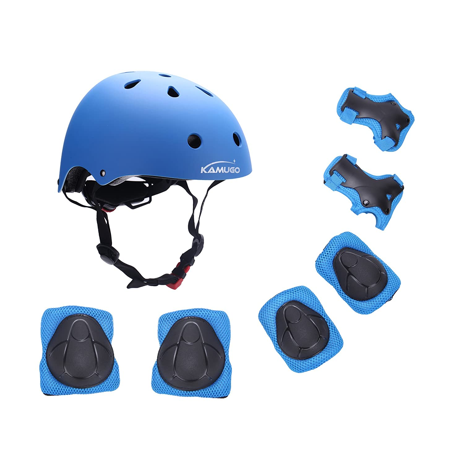 Kids Youth Adjustable Helmet with Sports Protective Gear Set Knee/Elbow/Wrist Pads
