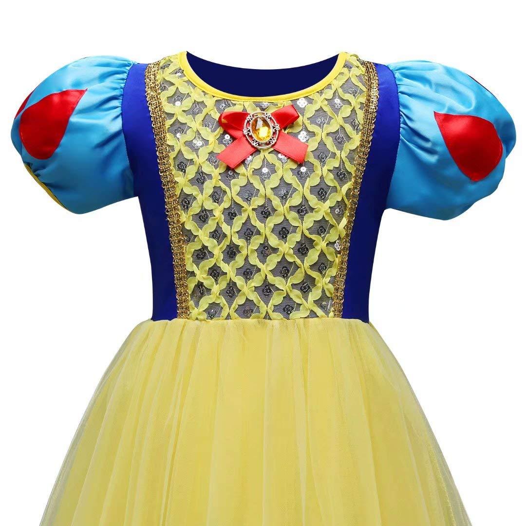 Tsyllyp Girl Snow White Coustume Princess Tutu Dress up Party Gown by Tsyllyp (Image #4)