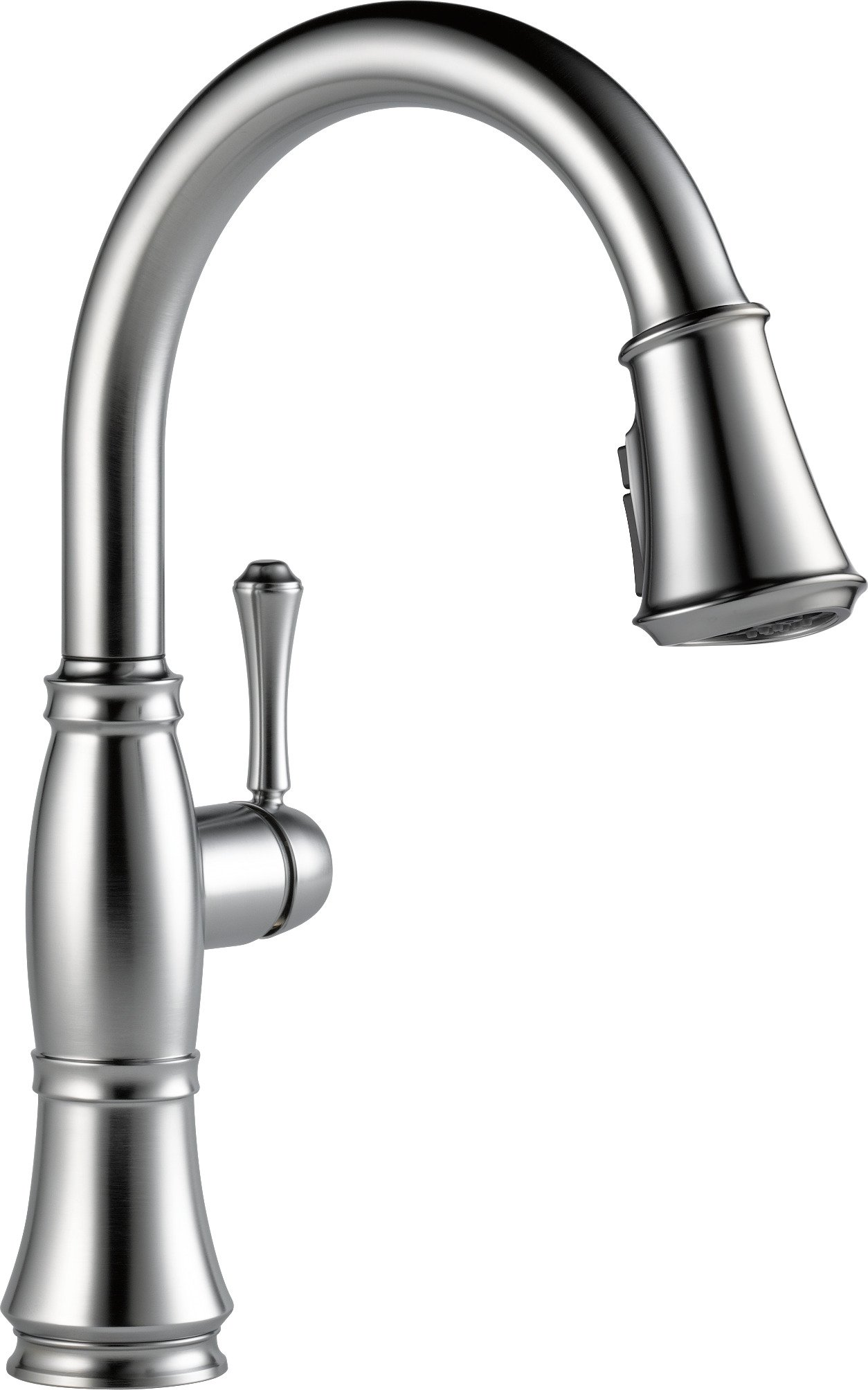 Delta Faucet 9197-AR-DST Cassidy, Single Handle Pull-Down Kitchen Faucet with Magnetic Docking, Arctic Stainless