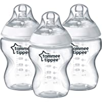 Tommee Tippee Closer to Nature Baby Bottle, Flow, 9 Ounce, 3 Count