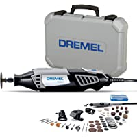 Dremel 4000 Rotary Tool 175W Multi Tool Kit (4 Attachments, 50 Accessories, Variable Speed 5,00035,000 RPM for Cutting…