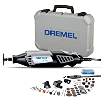 Dremel 4000 4/50 Rotary tool kit (175W,Variable speed settings, Includes 4 attachments 50-piece accessory set for carving,engraving,glass etching, cutting, cleaning, grinding and polishing)