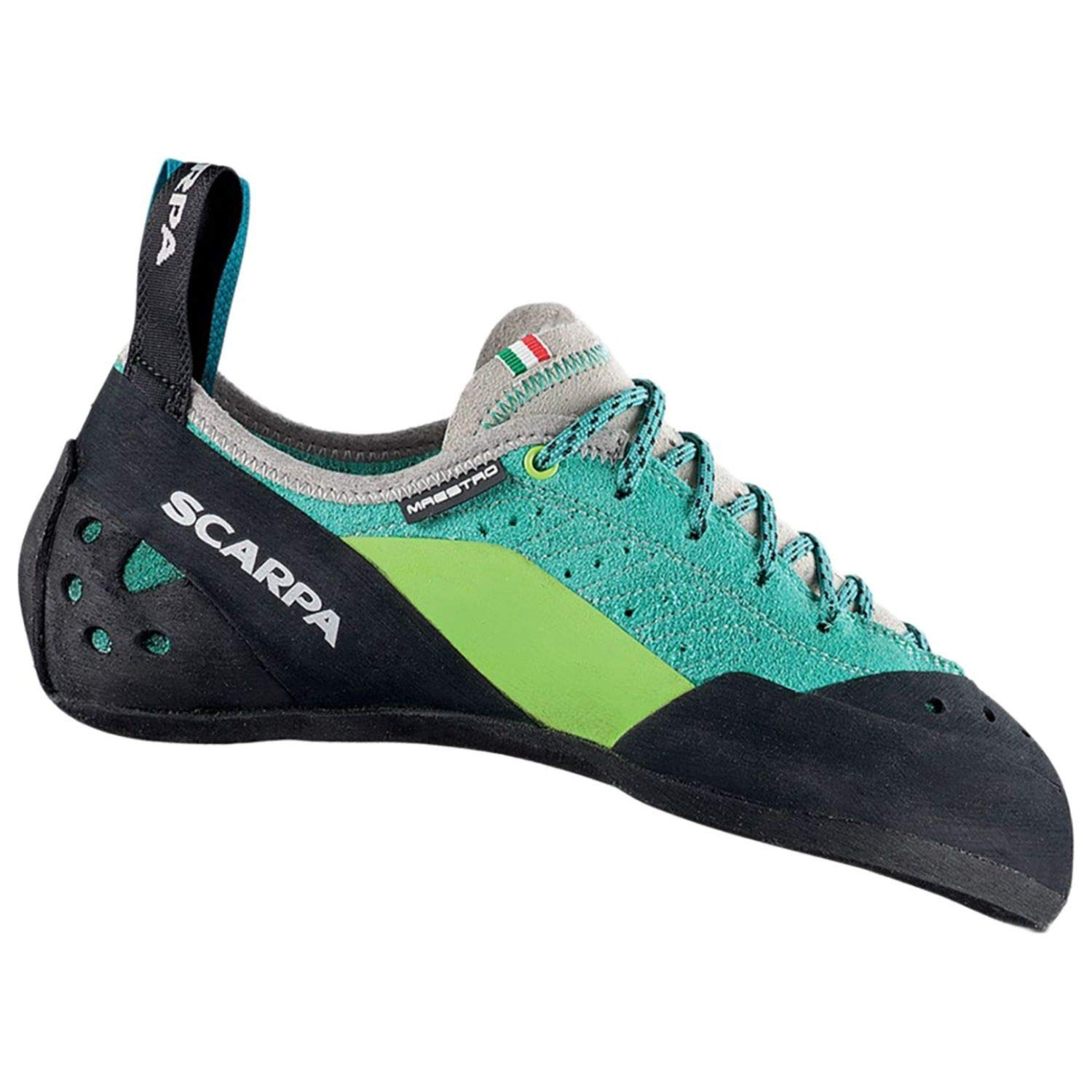 SCARPA Maestro ECO Climbing Shoe - Women's Green Blue 36.5 by SCARPA
