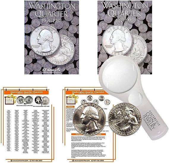 Washington Quarters 1988-1998 Set Harris Album 2691 lot Coin Folder