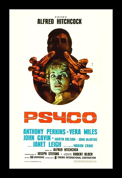 Amazon.com: Psycho - 11x17 Framed Movie Poster by Wallspace ...