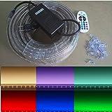 Amazon Com 50 Ft Rgb Color Changing 4 Wire 110v 120v Led