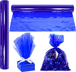 """Cellophane Wrap Roll Royal Blue 
