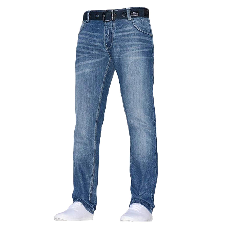 CrossHatch Herren klassisch gerades Bein Regular Regular Regular Fit Stylisch Jeans jeanbase alle Größen & Größen Gratis Gürtel B07HXTN1BS Jeanshosen Ausreichende Versorgung 861c5c