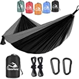 Favorland Camping Hammock Double & Single with Tree Straps for Hiking, Backpacking, Travel, Beach, Yard - 2 Persons…